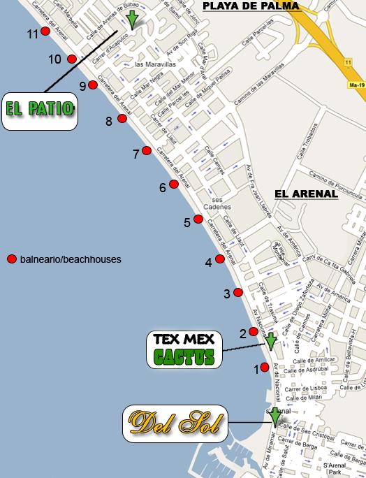 Hotels Mallorca Ballermann Karte